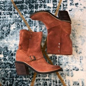 Jeffrey Campbell France Brown Leather Booties 7.5